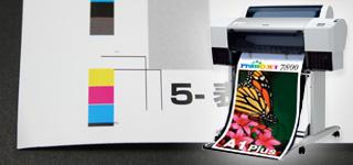 印刷オプション、色校正